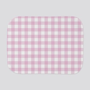 Gingham in pink Burp Cloth