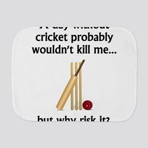 A Day Without Cricket Burp Cloth