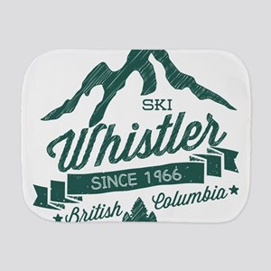 Whistler Mountain Vintage Burp Cloth