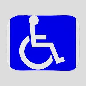 Handicap Sign Burp Cloth