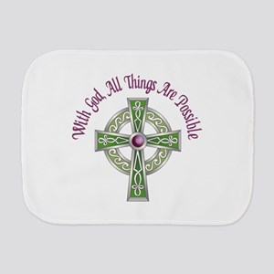 ALL THINGS POSSIBLE Burp Cloth