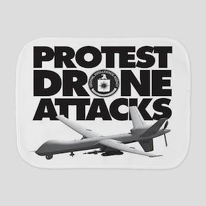 Protest Drone Attacks Burp Cloth