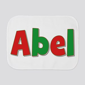 Abel Christmas Red and Green Burp Cloth