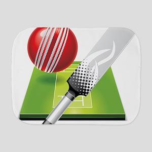 Cricket pitch bat ball Burp Cloth