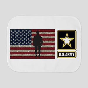 Usarmy Gold Star Flag Pp Burp Cloth