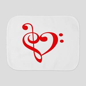 TREBLE MUSIC HEART Burp Cloth