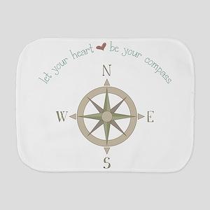 Heart Your Compass Burp Cloth