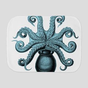 Teal Octopus Burp Cloth