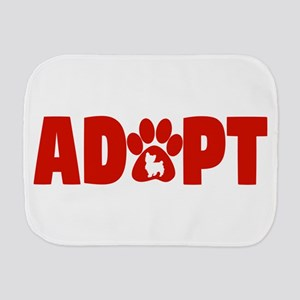 Cute Pets Paw Cat Dog Adopt Red Burp Cloth