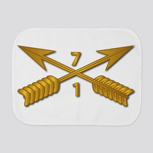 1st Bn 7th SFG Branch wo Txt Burp Cloth