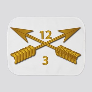 3rd Bn 12th SFG Branch wo Txt Burp Cloth