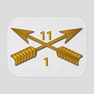 1st Bn 11th SFG Branch wo Txt Burp Cloth