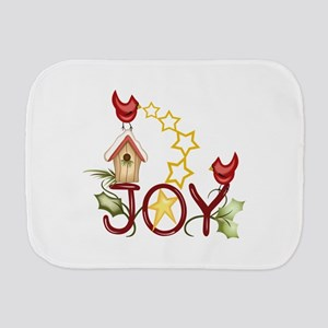 CARDINAL WITH STARS Burp Cloth