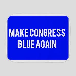 Make congress blue again Burp Cloth