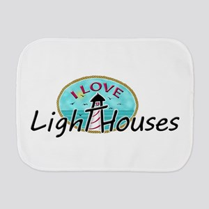 I Love Lighthouses Burp Cloth