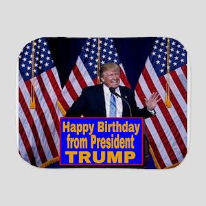 Happy Birthday from President Trump Burp Cloth