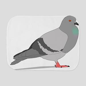 Cartoon Pigeon Burp Cloth