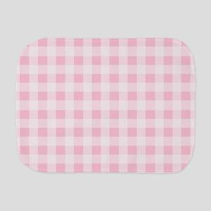 Pink Gingham Checkered Pattern Burp Cloth