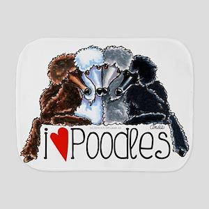 Love Poodles Burp Cloth