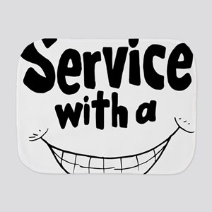 Service with a smile Burp Cloth