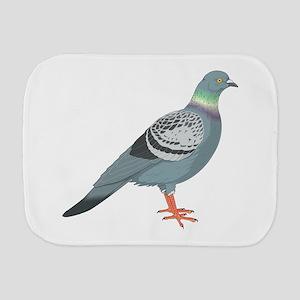 Grey pigeon Burp Cloth