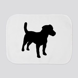 jack russell terrier silo Burp Cloth