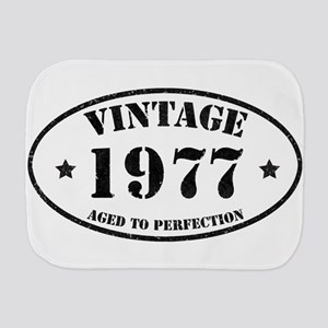Vintage Aged to Perfection 1977 Burp Cloth
