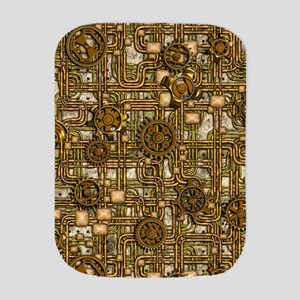 Steampunk Cogs&Pipes-Brass Burp Cloth