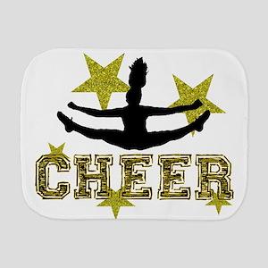 Cheerleader Gold and Black Burp Cloth