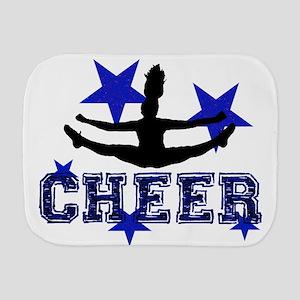 Blue Cheerleader Burp Cloth