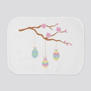 Easter Egg Cherry Blossom Burp Cloth