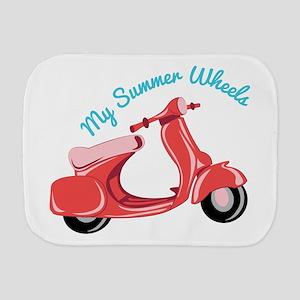 Summer Wheels Burp Cloth