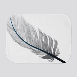 Gray Quill Burp Cloth