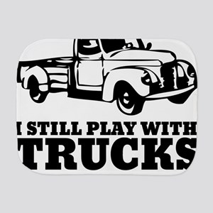 I Still Play With Trucks Burp Cloth