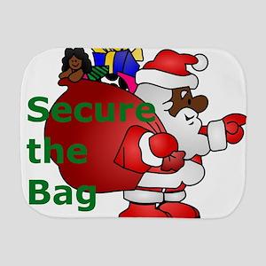 secure the bag santa Burp Cloth