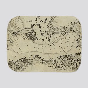 Vintage Map of Tampa Florida (1809) Burp Cloth