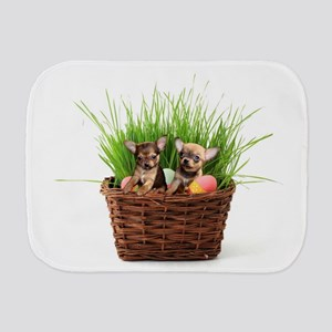 Easter Chihuahua puppies Burp Cloth