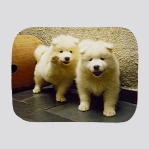 LS samoyed puppy Burp Cloth