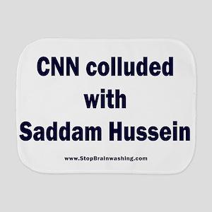 CNN Colluded with Saddam Burp Cloth
