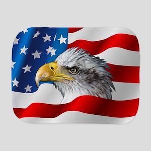Bald Eagle On American Flag Burp Cloth