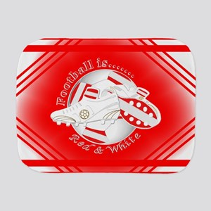 Red and White Football Soccer Burp Cloth