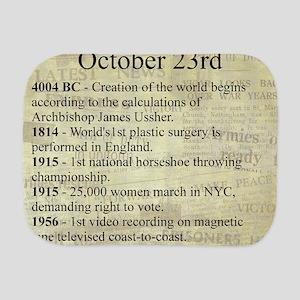 October 23rd Burp Cloth