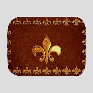 Old Leather with gold Fleur-de-Lys Burp Cloth