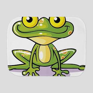 Cute Green Frog Burp Cloth