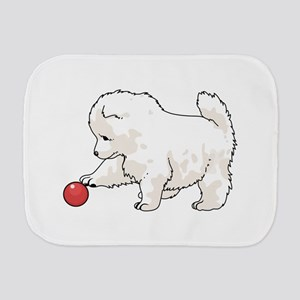 SAMOYED PUPPY Burp Cloth