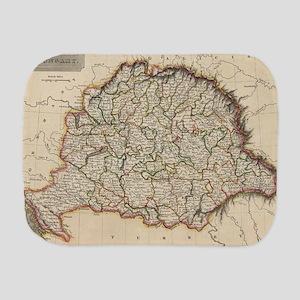 Vintage Map of Hungary (1817) Burp Cloth