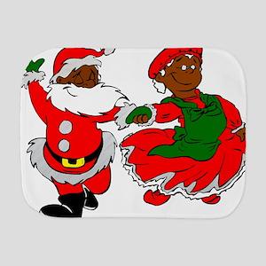 black santa mrs claus Burp Cloth