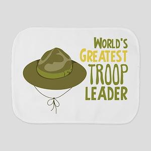 Greatest Troop Leader Burp Cloth
