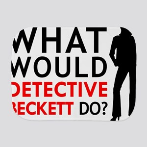 """""""What Would Detective Beckett Do?"""" Burp Cloth"""