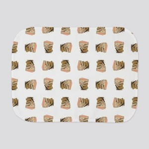 STACKED BOOKS Burp Cloth